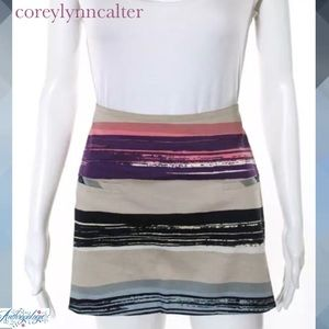 COREYLYNNCALTER (ANTHRO) Abstract Stripe Skirt
